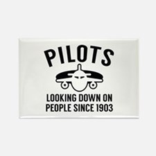 Pilots Looking Down Rectangle Magnet
