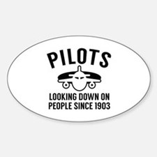 Pilots Looking Down Sticker (Oval)