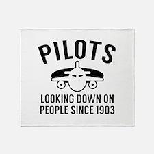 Pilots Looking Down Stadium Blanket