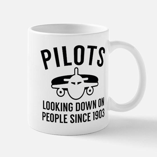 Pilots Looking Down Mug
