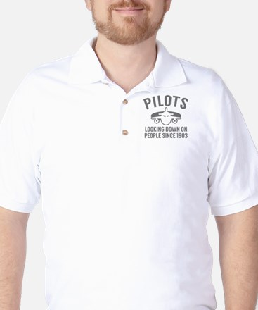 Pilots Looking Down Golf Shirt