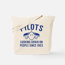 Pilots Looking Down Tote Bag