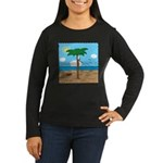 Bassoon Beach - Women's Long Sleeve Dark T-Shirt