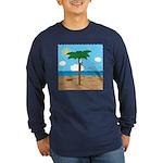 Bassoon Beach - Long Sleeve Dark T-Shirt