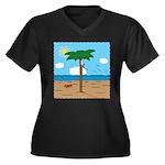 Bassoon Beach - Women's Plus Size V-Neck Dark T-Sh
