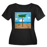 Bassoon Beach - Women's Plus Size Scoop Neck Dark