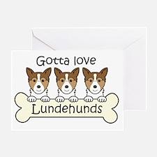 Norwegian lundehund Greeting Card