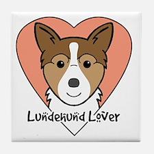 Funny Norwegian lundehund Tile Coaster