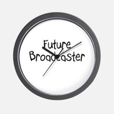 Future Broadcaster Wall Clock