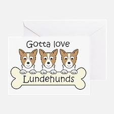Unique Norwegian lundehund Greeting Card