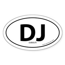 Djibouti country bumper sticker -White (Oval)