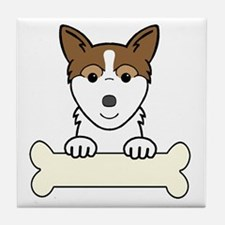 Cute Norwegian lundehund Tile Coaster