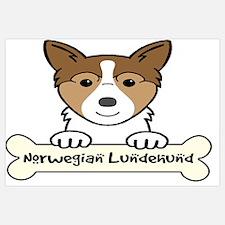 Norwegian lundehund Wall Art