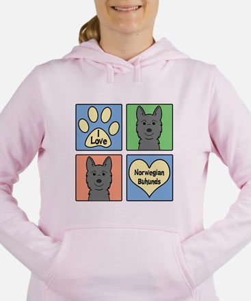 Funny Norwegian buhund Women's Hooded Sweatshirt