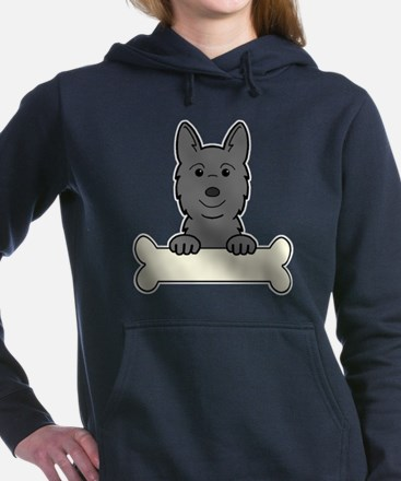 Cool Norwegian buhund Women's Hooded Sweatshirt
