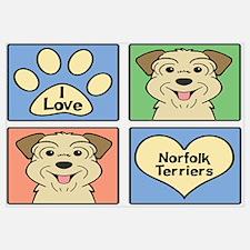 Funny Norfolk terrier Wall Art