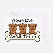Cute Norfolk terrier Greeting Card