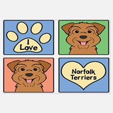 Unique Norfolk terrier Wall Art