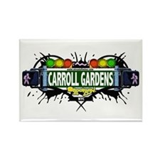 Carroll Gardens (White) Rectangle Magnet