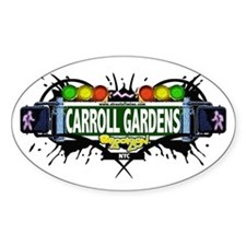 Carroll Gardens (White) Oval Decal