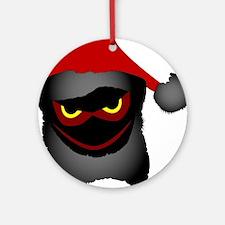 EVil Santa Round Ornament