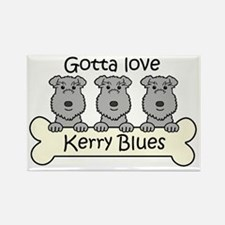 Cute Kerry blue terrier Rectangle Magnet