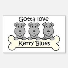 Cute Kerry blue terrier Decal