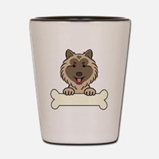 Funny Keeshond lover Shot Glass