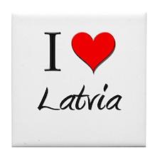 I Love Laos Tile Coaster