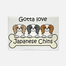 Cute Japanese chin puppy Rectangle Magnet
