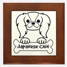 Unique Japanese chin puppies Framed Tile