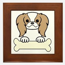 Cute Japanese chin puppies Framed Tile