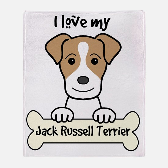 Funny Russell terrier Throw Blanket