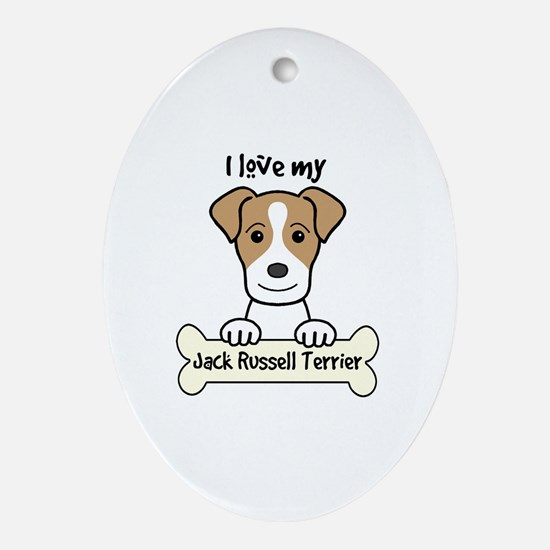 Unique Jack russell terrier Oval Ornament