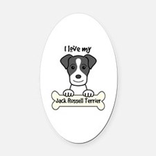 Funny Jack russell Oval Car Magnet