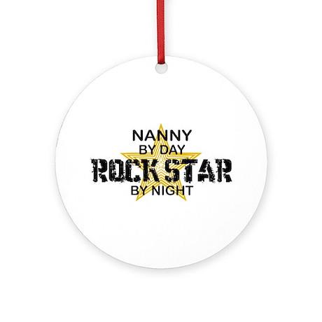 Nanny Rock Star Ornament (Round)