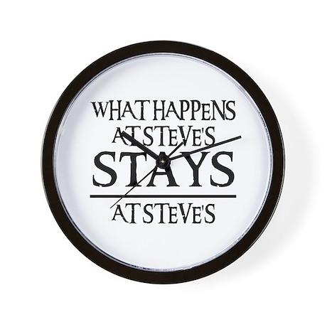 STAYS AT STEVE'S Wall Clock
