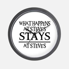 STAYS AT STEVE'S Wall Clock