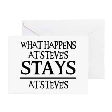 STAYS AT STEVE'S Greeting Cards (Pk of 20)