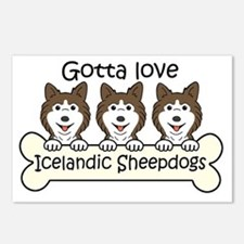 Funny Icelandic sheepdog Postcards (Package of 8)