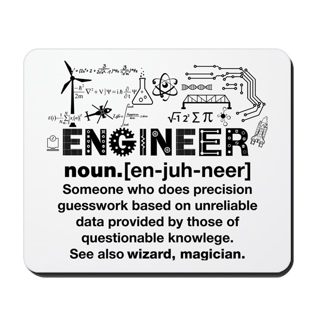 Engineer Funny Definition Mousepad by Admin_CP76164615