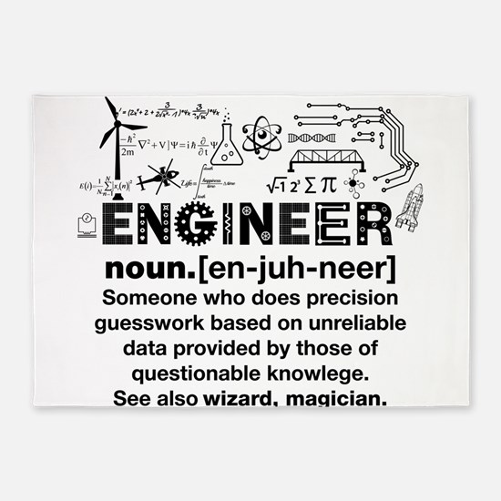 Engineer Funny Definition 5'x7'Area Rug
