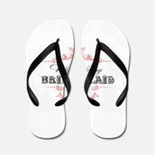 Funny Thank you wedding party Flip Flops