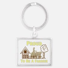 Proud To Be A Farmer Keychains