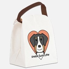 Cute Greater swiss mountain dog Canvas Lunch Bag