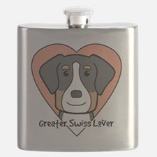 Cute Greater swiss mountain dog Flask