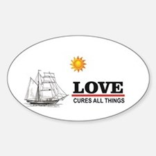 love cures all things sun Decal