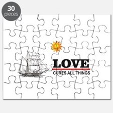 love cures all things sun Puzzle