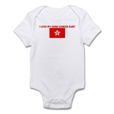 I LOVE MY HONG KONGER AUNT Infant Bodysuit
