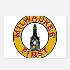 Milwaukee Wisconsin Logo Postcards (Package of 8)